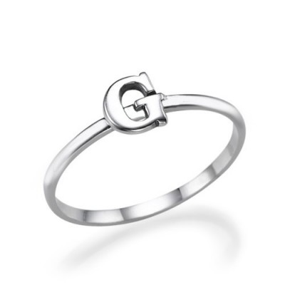 Initial Ring in Sterling Silver - Name My Jewelry ™