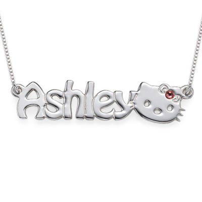 Kitten Nameplate Necklace for Girls - Name My Jewelry ™