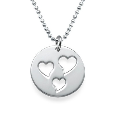 Mother and Daughter Cut Out Heart Necklace Set - Name My Jewelry ™