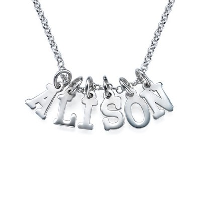 Multiple Initial Necklace in Silver - Name My Jewelry ™