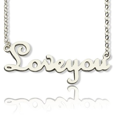 personalized Sterling Silver Cursive Name Necklace - Name My Jewelry ™