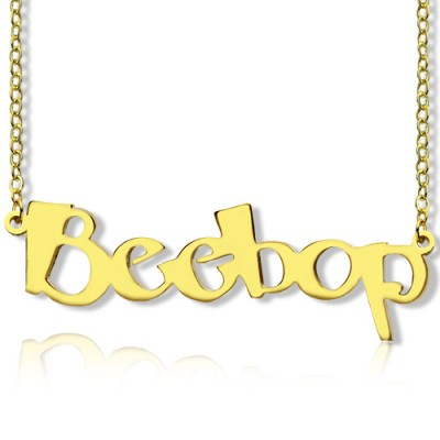 Create Your Own Name Necklace 18ct Gold Plated - Name My Jewelry ™