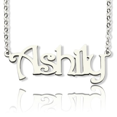 925 Sterling Silver Harrington Font Name Necklace - Name My Jewelry ™