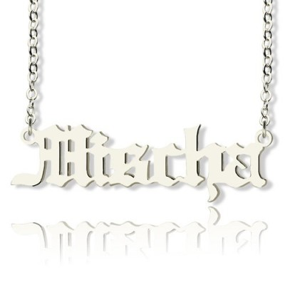 Old English Name Necklace Sterling Silver - Name My Jewelry ™