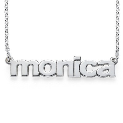 Nameplate Necklace in Lowercase Font - Name My Jewelry ™