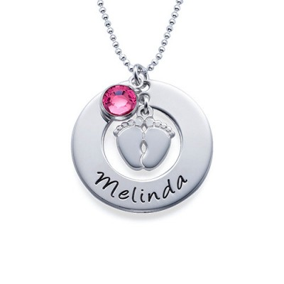 New Mum Necklace with Baby Feet - Name My Jewelry ™