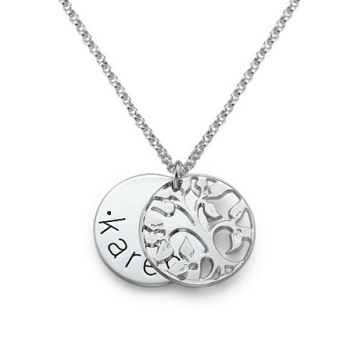 personalized Family Necklace in Silver - Name My Jewelry ™