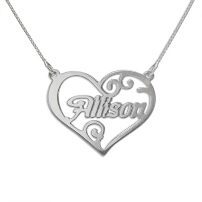personalized Heart Name Necklace - Name My Jewelry ™