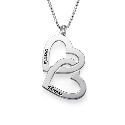 personalized Heart in Heart Necklace - Name My Jewelry ™