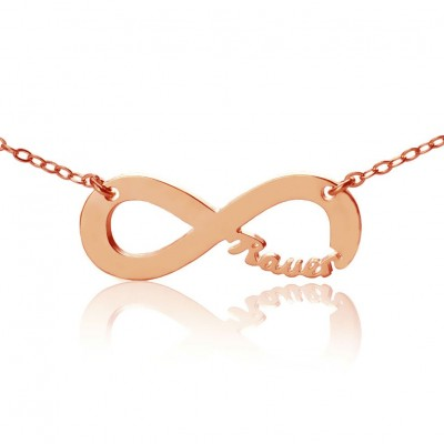 Rose Gold Plated Infinity Necklace Cut Out Name - Name My Jewelry ™