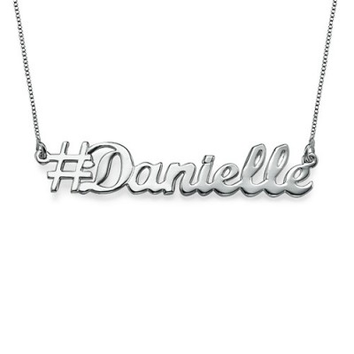 Silver Hashtag Necklace - Name My Jewelry ™