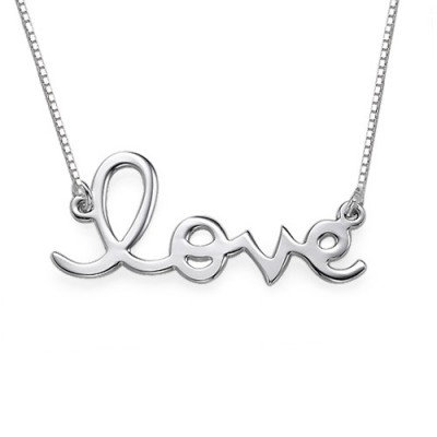Love Necklace in Sterling Silver - Name My Jewelry ™