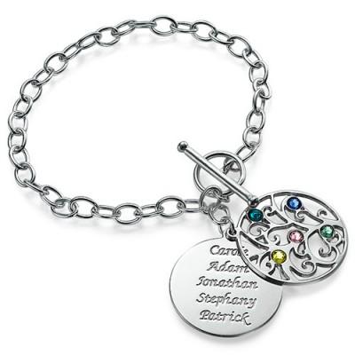 Silver Tree of Life Bracelet - Filigree Style - Name My Jewelry ™