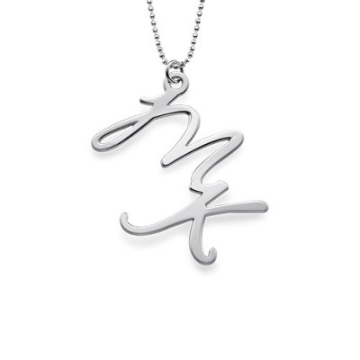 Two Initial Necklace in Sterling Silver - Name My Jewelry ™