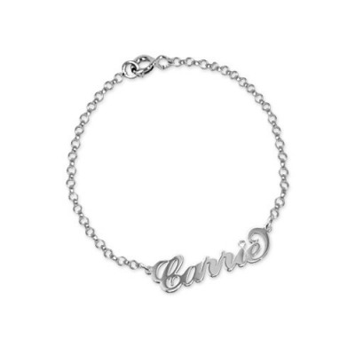 Silver and Crystal Name Bracelet/Anklet - Name My Jewelry ™