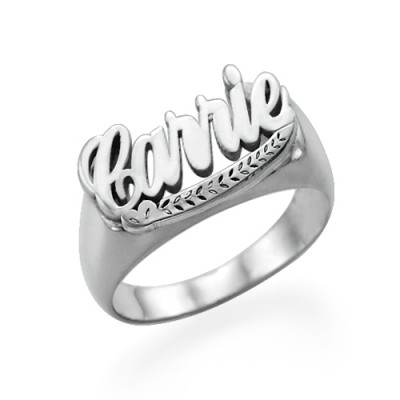 """Sterling Silver """"Carrie"""" Name Ring - Name My Jewelry ™"""