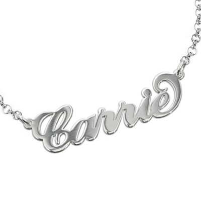 """Sterling Silver """"Carrie"""" Name Bracelet / Anklet - Name My Jewelry ™"""
