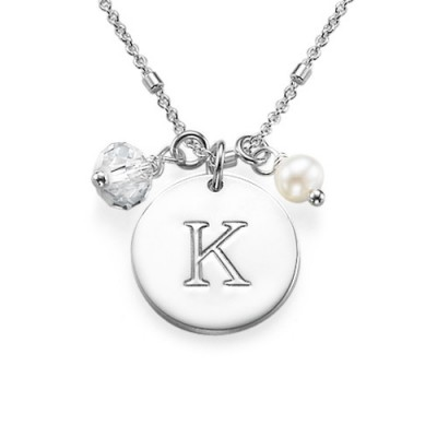 Sterling Silver Charm Initial Pendant - Name My Jewelry ™
