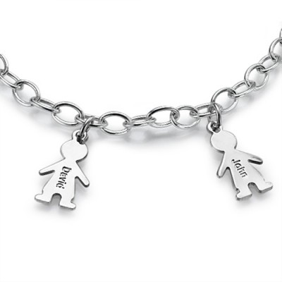 Sterling Silver Engraved Mothers Day Bracelet/Anklet - Name My Jewelry ™