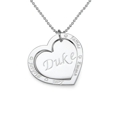 Family Heart Necklace in Silver - Name My Jewelry ™