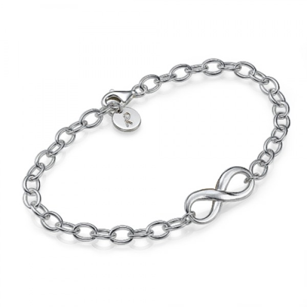 Sterling Silver Infinity Bracelet/Anklet - Name My Jewelry ™