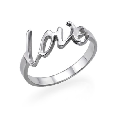 Sterling Silver Love Ring - Name My Jewelry ™