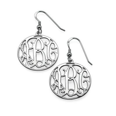 Sterling Silver Monogrammed Earrings - Name My Jewelry ™
