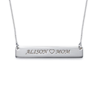 Nameplate Necklace in Sterling Silver - Name My Jewelry ™