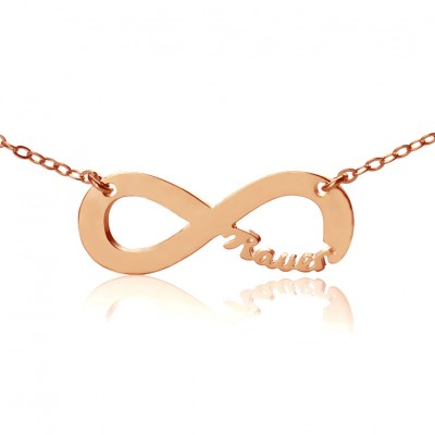 Solid Rose Gold 18ct Infinity Name Necklace - Name My Jewelry ™