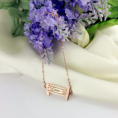 Personal Rose Gold Plated 925 Silver 3 Initials Monogram Bracelet/Anklet - Name My Jewelry ™