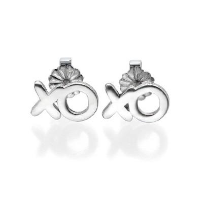 XO Silver Earrings - Name My Jewelry ™