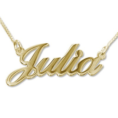 18ct Gold-Plated Silver Classic Name Necklace - Name My Jewelry ™