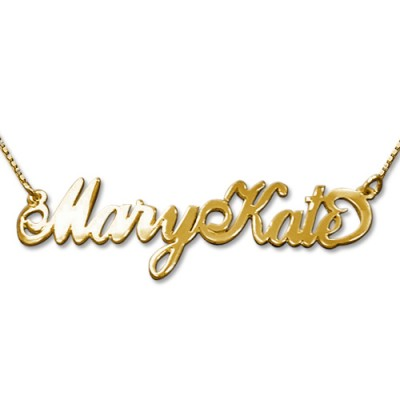 2 Capital Letters 18ct Gold Name Necklace - Name My Jewelry ™