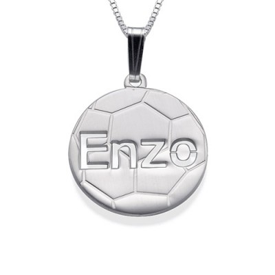 Sterling Silver Personlised Football Pendant - Name My Jewelry ™