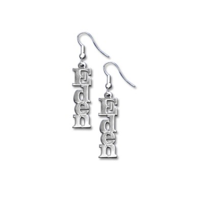 Sterling Silver Name Earrings - Name My Jewelry ™