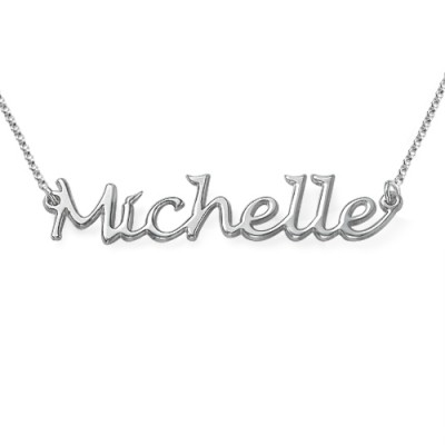 Silver Handwritten Name Necklace - Name My Jewelry ™