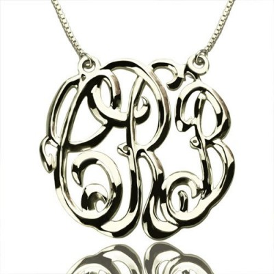 Celebrity Cube Premium Monogram Necklace Gifts Sterling Silver - Name My Jewelry ™