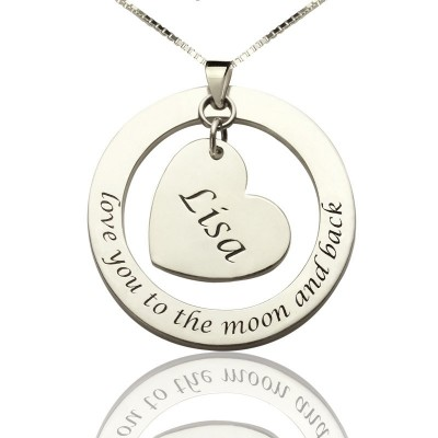 Custom Promise Necklace with Name  Phrase Sterling Silver - Name My Jewelry ™