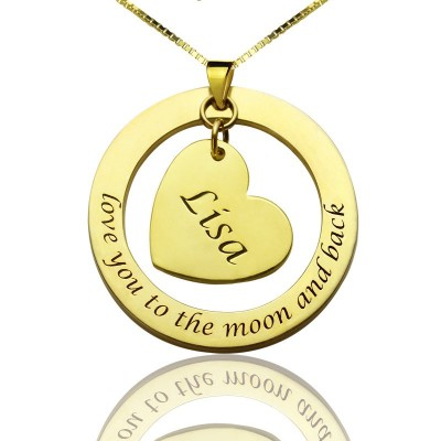 personalized Promise Necklace with Name  Phrase 18ct Gold Plated - Name My Jewelry ™