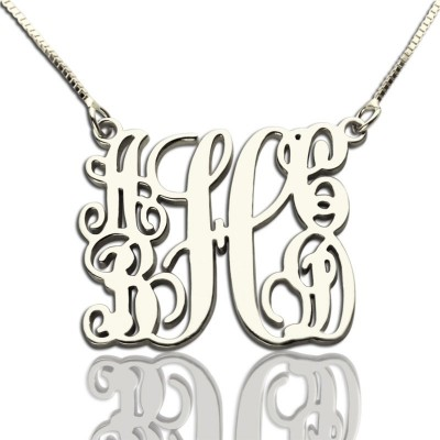Customised 5 Initials Family Monogram Necklace Silver - Name My Jewelry ™
