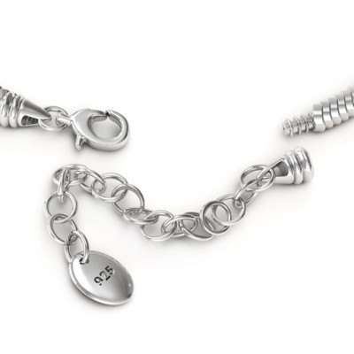 personalized Silver Snake Bracelet with 1.5  Extender - Name My Jewelry ™