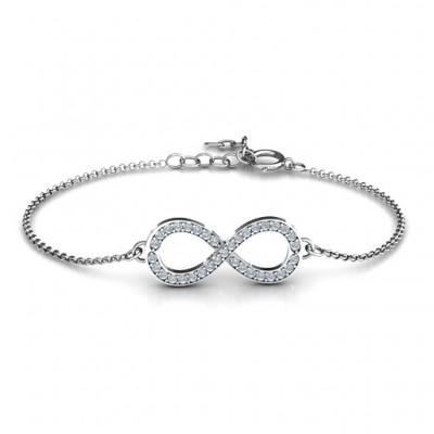 personalized Accented Infinity Bracelet - Name My Jewelry ™