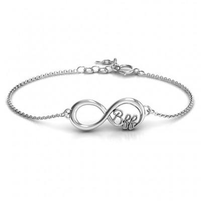 personalized BFF Friendship Infinity Bracelet - Name My Jewelry ™