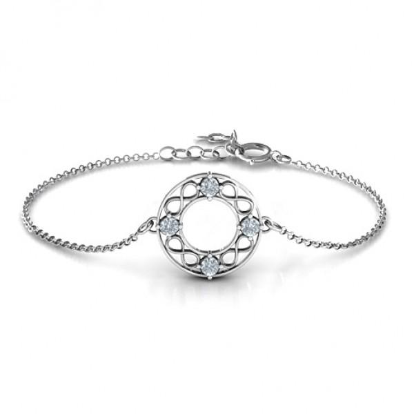 personalized Circular Infinity Bracelet - Name My Jewelry ™