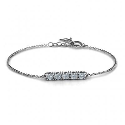 personalized Classic 5 Birthstone Bracelet  - Name My Jewelry ™