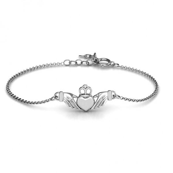 personalized Classic Claddagh Bracelet - Name My Jewelry ™