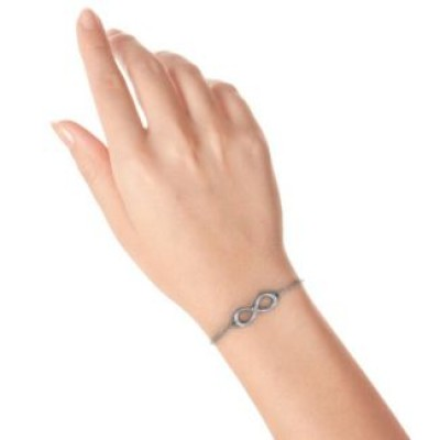 personalized Classic Infinity With Centre Accents Bracelet - Name My Jewelry ™