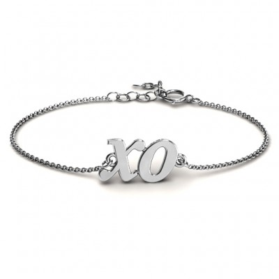 personalized Classic Kiss and Hug Bracelet - Name My Jewelry ™