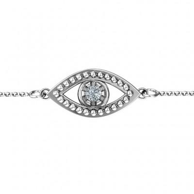 personalized Evil Eye Bracelet - Name My Jewelry ™