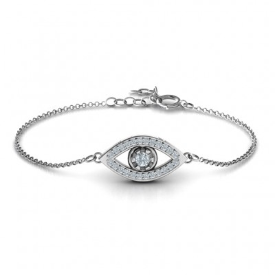 personalized Evil Eye Bracelet with Accents - Name My Jewelry ™